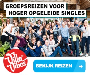 Single reizen villa vibes banner