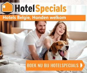Hotelspecials België honden welkom banner