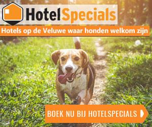 Hotelspecials Veluwe honden welkom banner